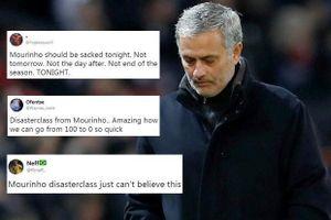 CĐV M.U đòi sa thải HLV Mourinho ngay tức khắc