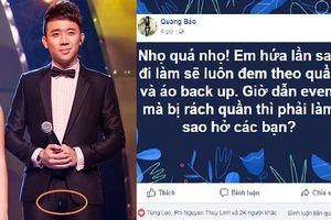 Nhọ quá nhọ: Sao Việt than trời khi đang dẫn bị rách quần!