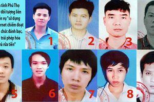 Công an tỉnh Phú Thọ truy nã 9 đối tượng liên quan đến vụ án đánh bạc qua mạng