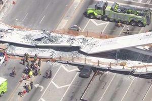 Cận cảnh cây cầu 14 triệu USD mới xây đã sập ở Mỹ