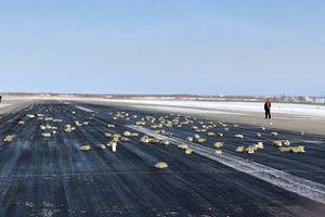 Máy bay Nga bung cửa, 3,4 tấn vàng rơi khắp đường băng