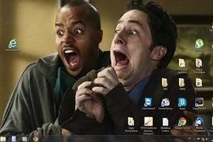 Dân mạng khoe hình desktop máy tính 'quan trọng vẫn là ở thần thái'
