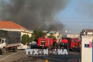 Đang cháy lớn tại công ty dệt, khu công nghiệp Biên Hòa 2 – Đồng Nai