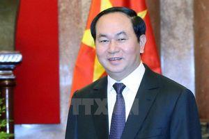 Chủ tịch nước Trần Đại Quang gửi điện mừng tới Chủ tịch nước, Chủ tịch Ủy ban Quân sự Trung ương Trung Quốc Tập Cận Bình