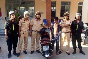 Trộm xe tay ga từ Bình Thuận vào TP.HCM thì bị bắt