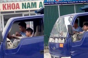 Clip: Hoảng hồn cảnh bé trai lái xe tải chạy bon bon trên phố