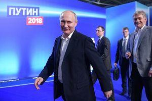 Tổng thống Vladimir Putin giành được hơn 76,41% số phiếu ủng hộ