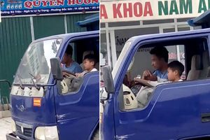 Người để cháu bé lái xe bị phạt 8 triệu đồng