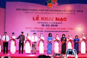 Tưng bừng khai mạc hội sách TPHCM lần X năm 2018