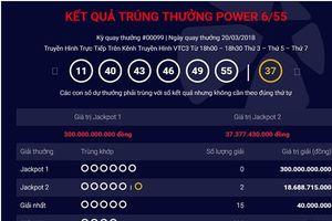 Khách hàng tại Kiên Giang và TP.HCM chia nhau giải Jackpot hơn 37 tỷ đồng
