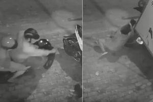 Clip: Hai đối tượng liều lĩnh dùng thòng lọng cướp chó kéo lê nam thanh niên hàng chục mét trên đường