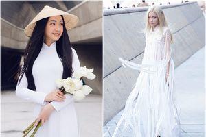 Cùng diện sắc trắng nhưng Fung La và Bảo Trân mang đến 2 thái cực khác nhau tại Seoul Fashion Week