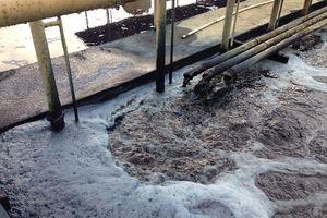Bắt quả tang Công ty may AOCC vẫn xả thải ra môi trường sau nhiều lần nộp phạt