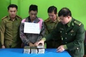 Bắt đối tượng người nước ngoài vận chuyển 10 bánh heroin