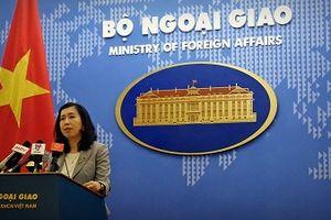 Người phát ngôn thông báo về một số hoạt động ngoại giao của Việt Nam