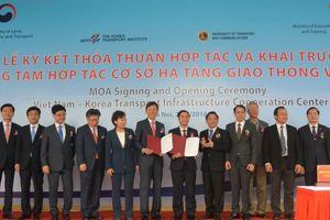 Khai trương trung tâm hợp tác hạ tầng giao thông Việt - Hàn