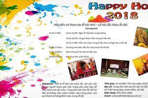 Lễ hội sắc màu Ấn Độ 2018 sẽ khai mạc tại Hà Nội