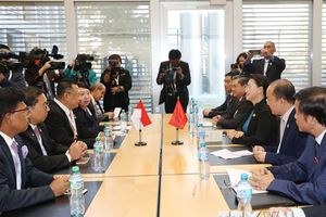 Chủ tịch Quốc hội Nguyễn Thị Kim Ngân tiếp Chủ tịch Hạ viện Indonesia