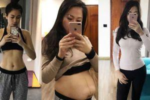 Giảm 35cm vòng bụng 2 tháng sau sinh, bà mẹ mang song thai khiến ai cũng ngạc nhiên vì về dáng quá nhanh