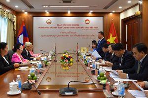 Trao đổi kinh nghiệm xây dựng Bảo tàng Mặt trận hai nước Việt Nam - Lào