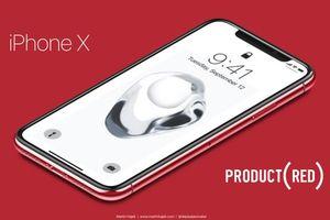 Đây là chiếc iPhone X màu đỏ sẽ ra mắt tối nay?