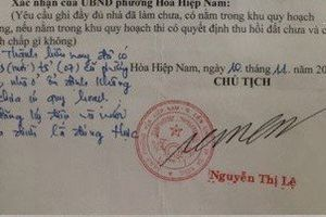 Làm rõ vụ cán bộ giả chữ ký Chủ tịch phường hợp thức nhà trái phép
