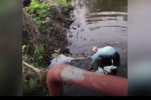 Cảm động cụ ông 90 tuổi lao xuống sông lạnh như băng cứu bé trai