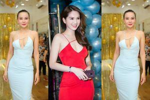 Mặc chiếc váy 'bản sao' của Ngọc Trinh, Dương Yến Ngọc thả rông vòng 1 'nóng bỏng' tại sự kiện