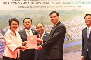 Quảng Ninh: Trao giấy chứng nhận đầu tư dự án nghìn tỷ cho nhà đầu tư Thái Lan