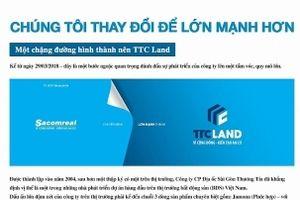 Sacomreal chính thức chuyển đổi sang thương hiệu TTC Land