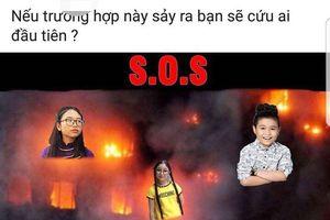 Fanpage 'Giọng hát Việt nhí' ghép ảnh dàn thí sinh chìm trong hỏa hoạn