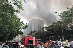 Hà Nội: Cháy lớn ở chợ Quang Thanh Liệt gần đường Vành đai 3