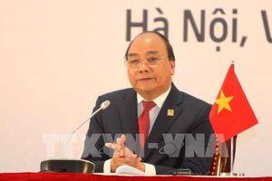 Thủ tướng ba nước Campuchia, Lào, Việt Nam chủ trì họp báo Hội nghị Cấp cao CLV10