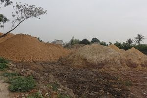 TP. Thanh Hóa: Bãi tập kết đất làm gạch gây ô nhiễm