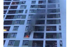 Cháy chung cư Parc Spring ở TP.HCM khiến cư dân hoảng sợ