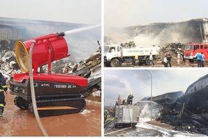 Huy động 800 người chữa cháy trong vụ hỏa hoạn tại kho hàng Công ty Texhong Ngân Long
