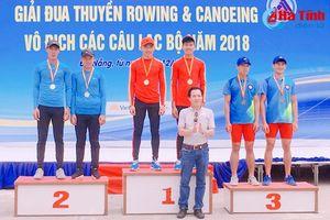 Hà Tĩnh giành 5 huy chương Giải Rowing và Canoeing các CLB toàn quốc