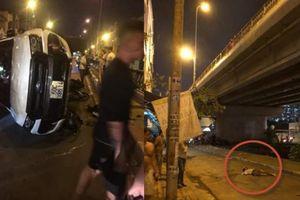 Clip nữ tài xế lái ô tô tông người đàn ông rơi xuống cầu Kênh Tẻ