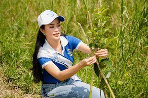 Thí sinh Hoa hậu Biển Việt Nam toàn cầu trồng cây ở U Minh Thượng