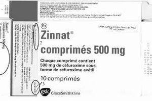 Bộ Y tế cảnh báo về thuốc giả có tên là Zinnat 500 mg