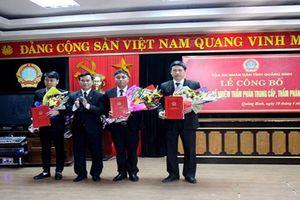 TAND tỉnh Quảng Bình: Trao quyết định bổ nhiệm Thẩm phán trung cấp, sơ cấp