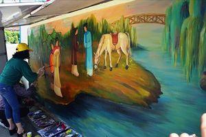 Về quê đại thi hào Nguyễn Du xem vẽ Truyện Kiều tại xóm nông thôn mới