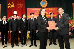 Công bố quyết định của Chủ tịch nước, Chánh án TANDTC về công tác cán bộ
