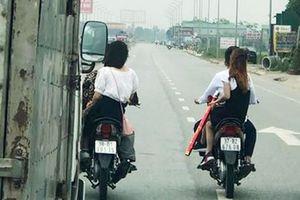 Làm rõ vụ nhiều xe máy cản xe tải 'dẹp đường' cho xe rước dâu trên quốc lộ