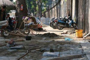 Sai phạm lát đá vỉa hè, nhiều cán bộ ở Hà Nội bị kiểm điểm