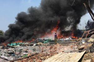 Cháy lớn tại cơ sở tái chế nhựa