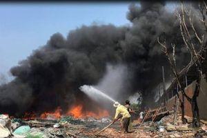 'Bà hỏa' ghé thăm cơ sở tái chế phế liệu