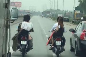 Công an triệu tập 2 thanh niên cố tình chặn đầu ô tô trên quốc lộ