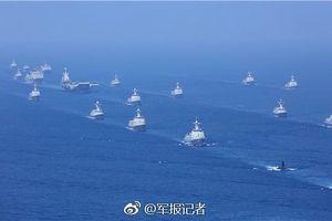 Hơn 120 tàu chiến, máy bay Trung Quốc diễu binh 'khủng' ở Biển Đông