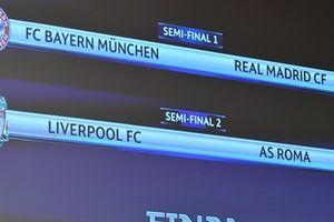 Bán kết Champions League: Real gặp Bayern, Liverpool đối đầu AS Roma